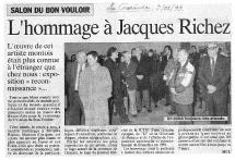 Jacques Richez, salon, cercle artistique, art, artistique, dessin, peinture, sculpture, gravure, exposition, Mons, Hainaut, Belgique