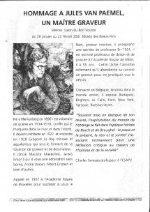 Jules; VANPAEMEL, salon, cercle artistique, art, artistique, dessin, peinture, sculpture, gravure, exposition, Mons, Hainaut, Belgique
